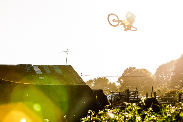 Aptos has long been a gathering spot for dirt jumpers from around the world. Woodward West Mountain Bike Director Jake Kinney is no stranger to the sun flares of a sundown session.