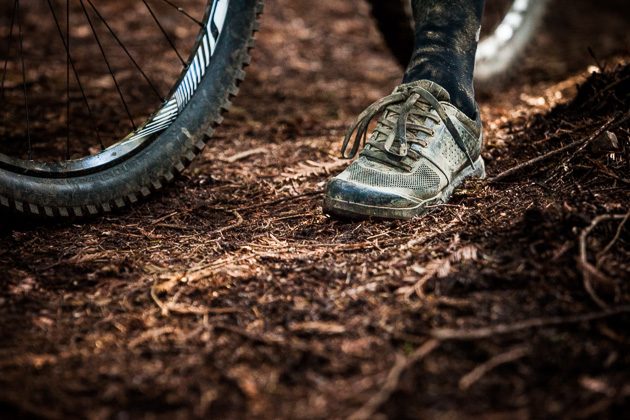 Word has it that Specialized is developing some new trail shoes. We wonder if we spotted some muddy prototypes....