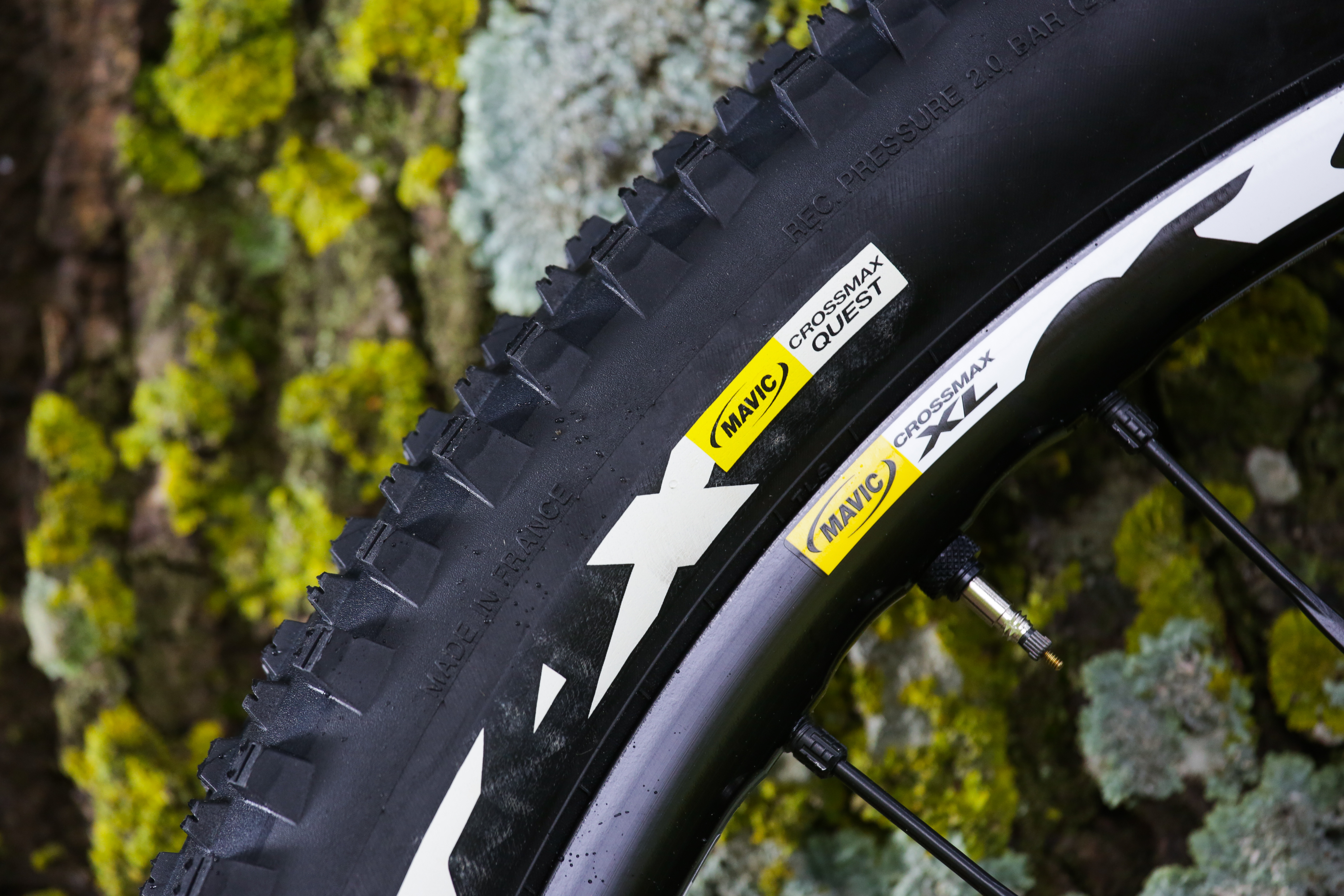 The Crossmax XL Wheel-Tire System is centered around 23-millimeter-wide rims with Fore drilling, 24 Zicral spokes and Quest tires with reinforced casings and a grippy 'Contact' compound.