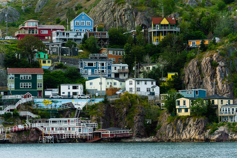 Colorful houses in St. John's, Newfoundland, Canada.