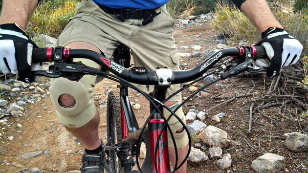 Just how much rise do you need on your bike? Oh, it varies depending on your age and size and the strength of your lower back...but there is  a point where all that gets tossed out the window and you just start embarrassing yourself.