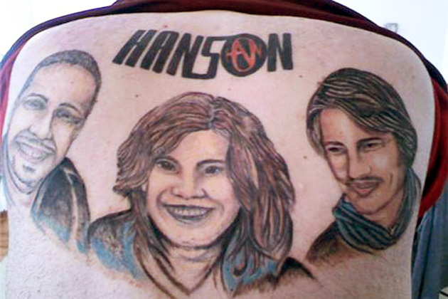 A massive portrait of `90s boy band Hanson permanently emblazoned across your back? Clearly, this man did not have any friends to point out just how very bad an idea this would prove to be.
