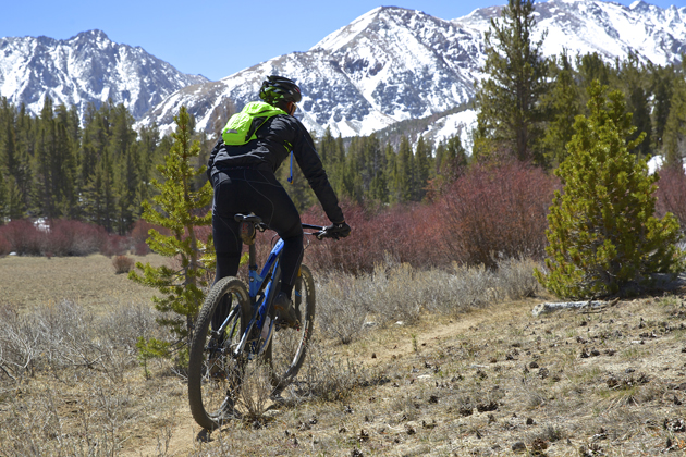 Phil Mooney enjoys the view from the meadows on the Sand Canyon Trail | Photo: Colin Farrell/@oppcreative