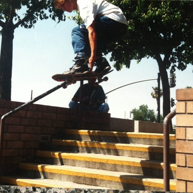 Riverside, California, skate spot, 1991. PHOTO: Courtesy Kirt Voreis
