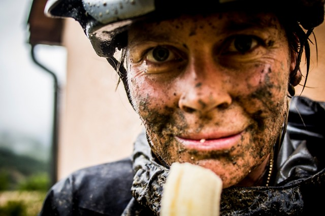 Never afraid to get a little muddy out on the course!