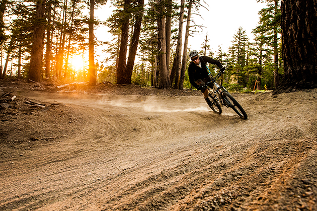 Banks and berms... Mammoth has it all.