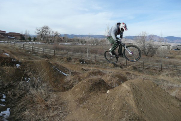 He's been successful at road racing and mountain biking ... Why not dirt jumping?
