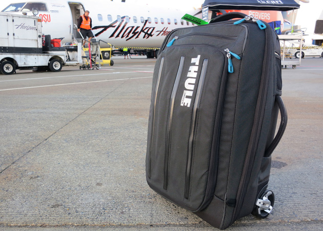 Thule's Crossover 38-Liter is both a roller bag and a backpack--it's also just the right size for day trips.