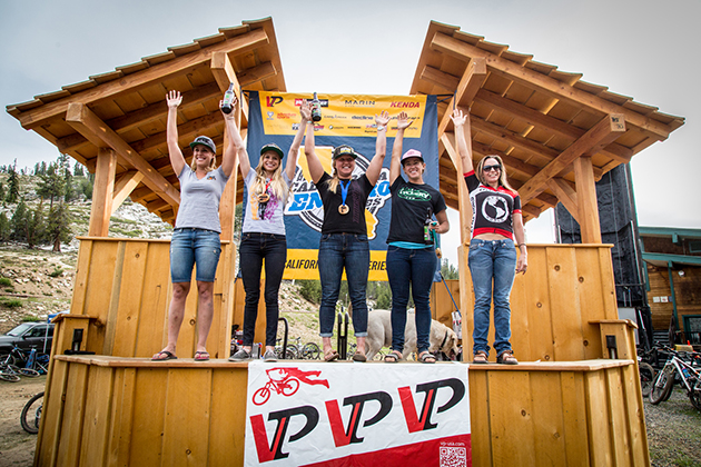 Pro Women podium: Amy Morrison, 1st; Rachel Throop, 2nd; Jackie Swider, 3rd; Christine Hirst, 4th; Lauren Gregg, 5th.