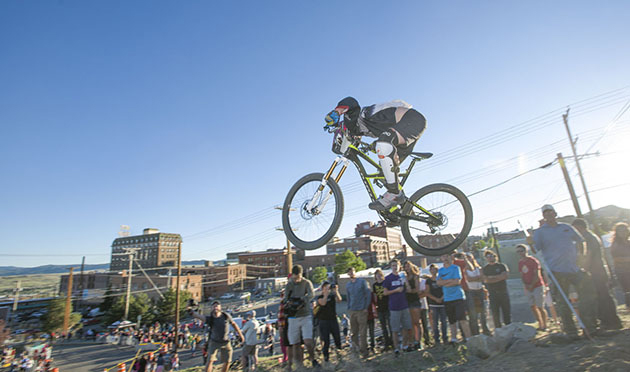 The snake jump was a crowd pleaser as the riders pinned it toward the final jump and the finish-line frenzy at the annual Evel Knievel Days Festival.