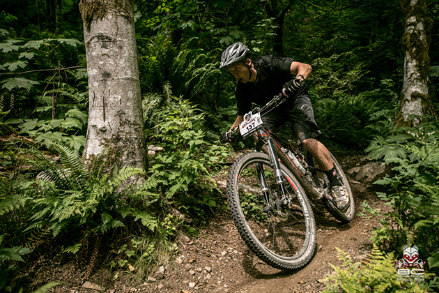 Mike Levy on his way home to the conclusion of Day 6, Squamish.   Photo by Margus Riga