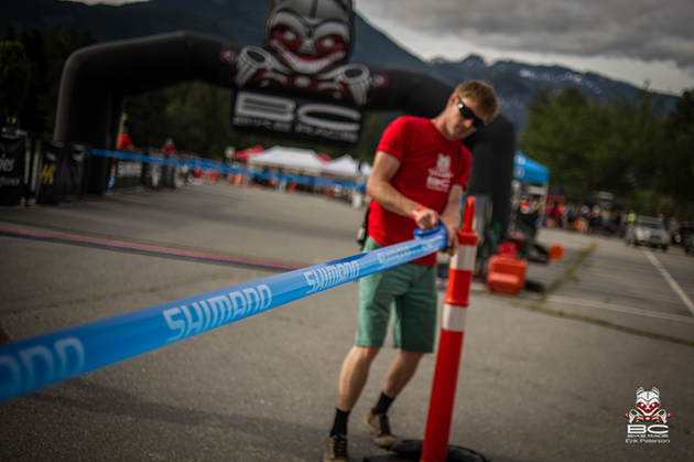 The start boxes get drawn out to direct racers. | Photo by Erik Peterson