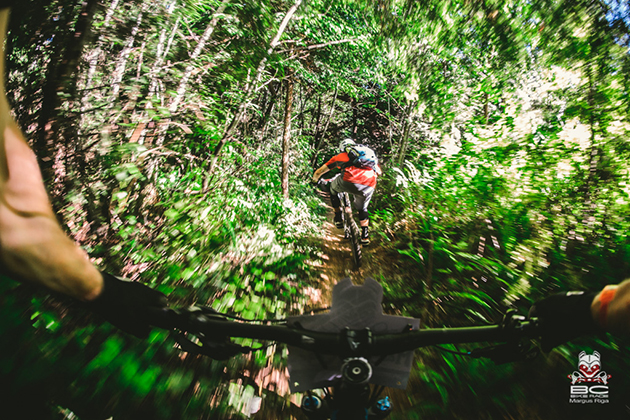 Highspeed tree tunnels were a highlight of the finishing trails. | Photo by Margus Riga
