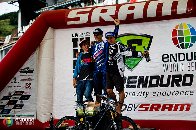 Junior podium. EWS 4 2014, La Thuile. Photo by Matt Wragg.
