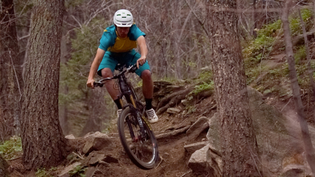 On demanding descents that we normally reserve for bikes with 6 inches or more of travel, we were continually amazed. Despite only sporting 5 inches of travel and a 67-degree head angle, the SB5c handled like a beefier all-mountain bike, fairly purring through consecutive small bumps and square-edged hits while also soaking up sizeable drops without sacrificing much speed. Rider: Joey Schusler.