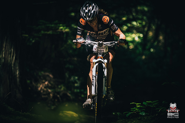 Wendy Simms is a machine with a heart on the bike. She was second today. | Photo by Margus Riga