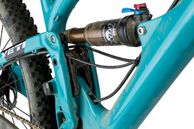 Regardless of whether we had the Fox Float CTD rear shock in 'Climb,' 'Trail' or 'Descend' mode, the pedaling was precise, and the rear wheel hugged the ground like a mother re-united with a lost child.