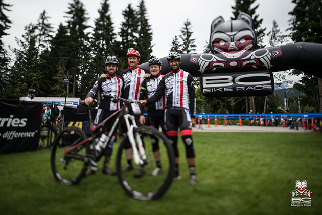 Team Rocky Mountain prepares for the last day in Whistler.