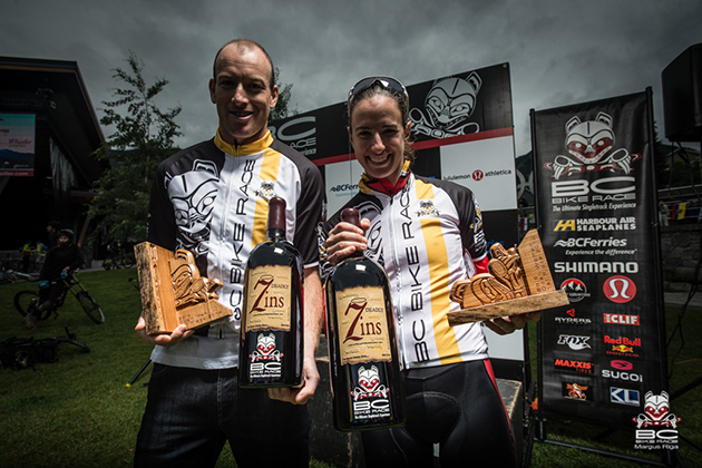 Our fastest man and woman receive magnums of Michael David Wine . *For the record those are the most amazing bottles ever.
