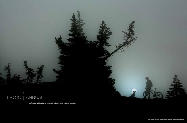 The heart of the Photo Annual is a 40-page gallery of mountain biking's most inspired moments. Photo: Nicolas Teichrob