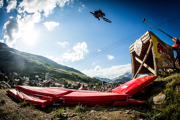Brandon Semenuk in his element. He just couldn't quite pull off the win. Photo: ven Martin/Red Bull