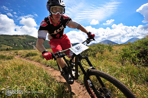 Jack Dean lays down his mettle on the cracked, sun-baked trail in the mountains around Moab for a ninth place finish in the amateur men division. Photo by Nick Ontiveros.