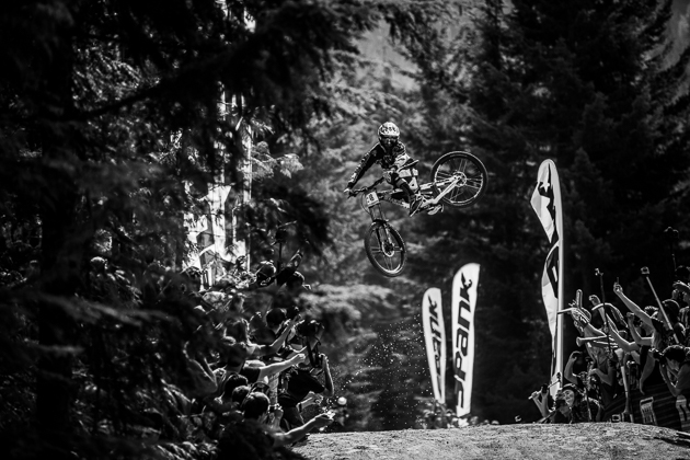 Frenchman Remy Metailler spends much of his summers in Whistler, and it's clear that he's intimately acquainted with the legendary Crabapple Hits. Photo by Anthony Smith.
