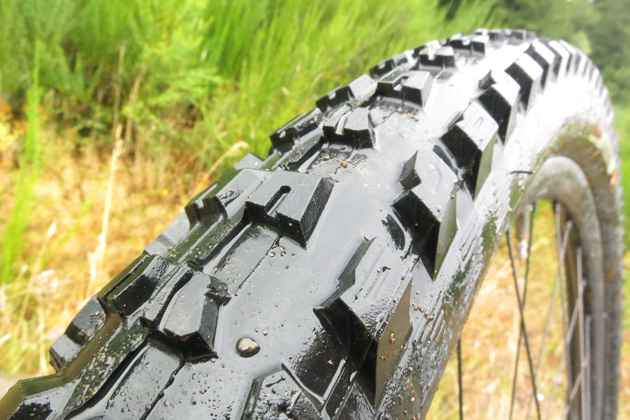 The Butcher Control works well as a front tire. The prominent shoulder lugs dig in well in loose conditions. The evenly spaced knobs also shed mud exceptionally well.