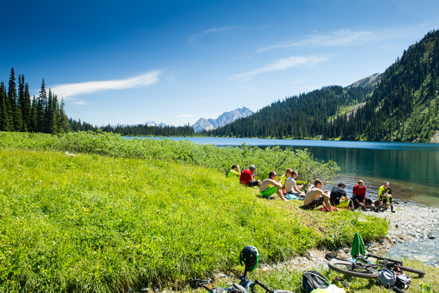 And of course the turquoise waters of Tenquille Lake provided the perfect backdrop for lunch and a refreshing swim.