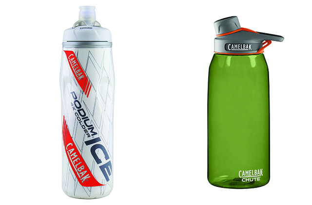 CamelBak's Podium Ice insulated bottle and Chute bottle