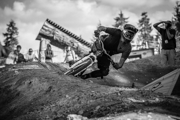 Heats were decided in the top section of berms—a fact not lost on Paul Basagoitia.