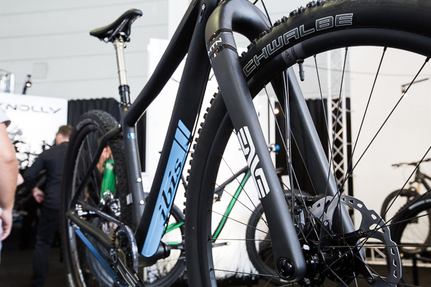 Are you a wealthy masochist? If so, this ENVE rigid carbon fork just might be right up your alley. Despite its lack of boing, the fork has several cool features including adjustable rake, integrated fender (not shown) and clean brake hose clip.