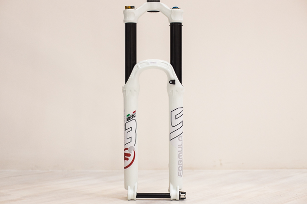 The ThirtyFive fork from Formula is ready for 'enduro-ing' with its beefy 35-millimeter stanchions, compression, rebound, lockout and lockout threshold adjustments, and internally adjustable travel. Price: $1,250.