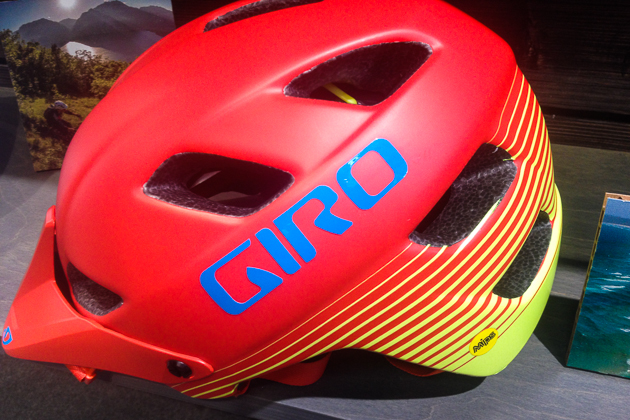The feature is Giro's first mountain-bike helmet to incorporate the MIPS protection liner. Giro's parent company recently acquired a minority share of MIPS and is using the technology in multiple helmets, so the volume has helped keep prices low. The Feature retails for less than $100.