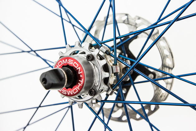 Thomson's new singlespeed cogs bolt onto an aluminum carrier, so all you'll need to swap cogs trailside is a 3-millimeter hex.