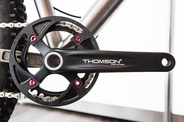 Thomson adds a singlespeed drivetrain to its quiver of matching components. The parts will be sold separately or in a kit including crank arms, chainring and a couple cogs for $700.