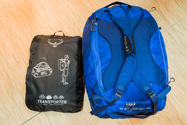 Osprey's Transporter series gear bags come in four volumes from 40 to 130 liters and can be carried like a backpack. The bags also conveniently pack into themselves, so they don't take up a ton of space between trips.