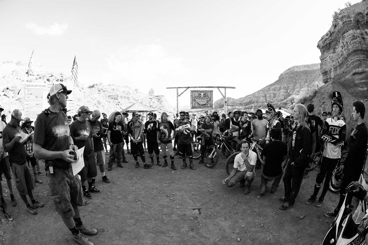 With an early-morning Utah wind kicking up well before this morning's riders' meeting, the couple-dozen qualifying hopefuls listened to the instructions with nervous anticipation.