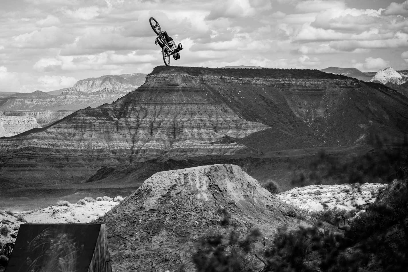 First-place qualifier Brett Rheeder made his line look like his favorite local trail, capping off a seemingly effortless run with a gargantuan backflip that seemed to last forever.