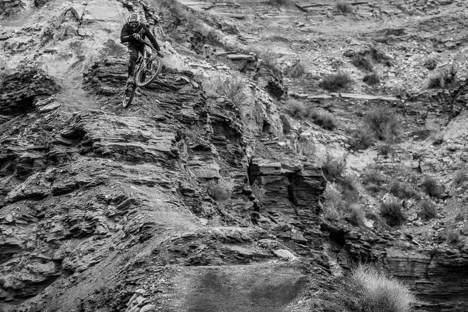 Tom Van Steenbergen's run-in to the canyon gap is steep and technical, and his imaginative gapping of natural features suggests that there could be quite a few surprises in tomorrow's finals.