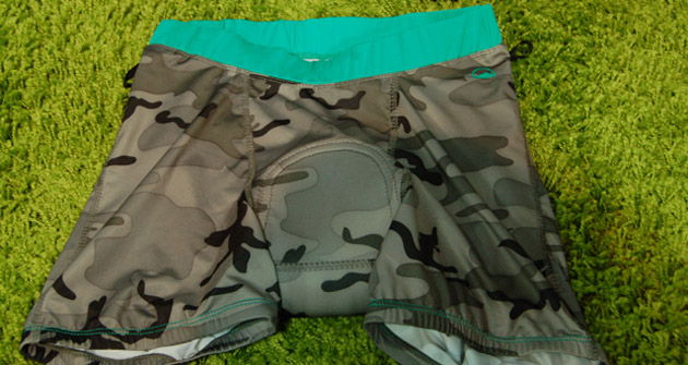 Zoic is another brand to celebrate the camo pattern in its women's line, even for pieces that are designed to remain covered, like this chamois...