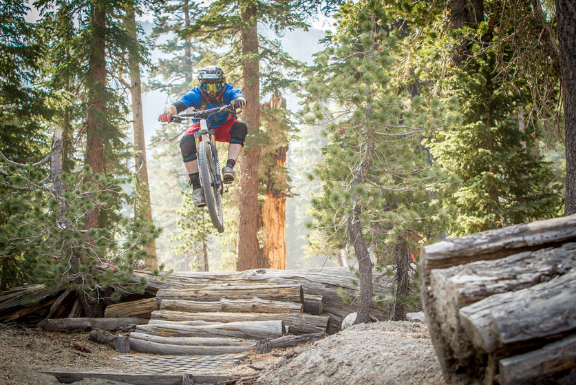 Stage 1 offered riders a chance to get airborne entering Mammoth's Flow trail. Photo by Called to Creation.