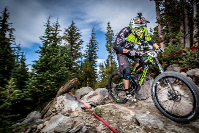 Marco Osborne charges through the rocks on Stage 1. Photo by Called to Creation.