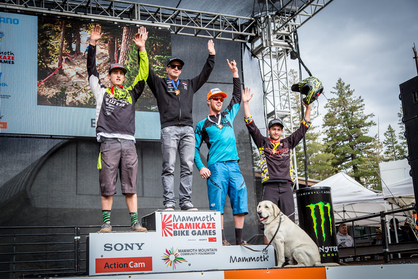 Men's Pro Podium: 1st, Brian Lopes; 2nd, Marco Osborne; 3rd, Tom Doran; 4th, Jon Buckell; 5th, Douglas Thayer Photo by Called to Creation.