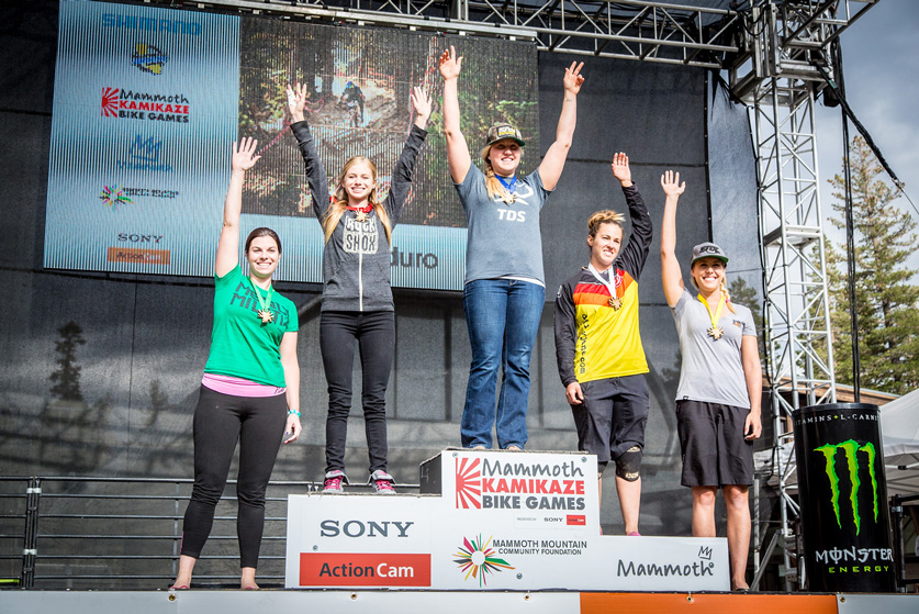 Women's Pro Podium: 1st, Amy Morrison; 2nd, Rachel Throop; 3rd, Jackie Swider; 4th, Lauren Gregg; 5th, Brianne Spiersch.  Photo by Called to Creation.
