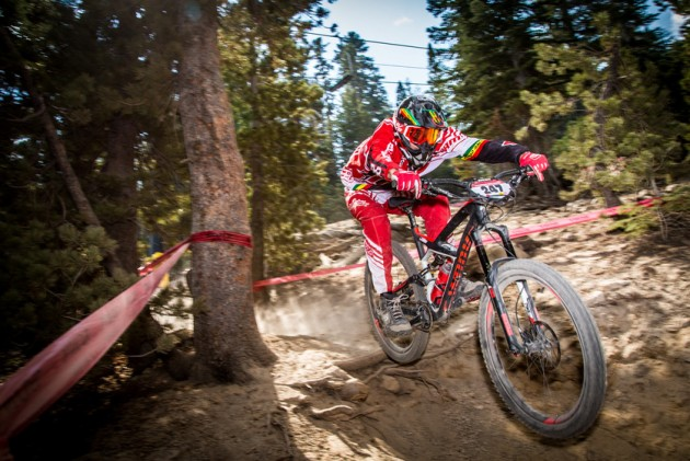 Follow Me, a trail on Stage 2, challenged racers with technical rock and root sections. Photo by Called to Creation.
