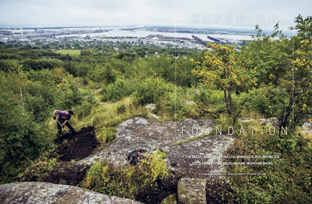 Senior writer Graham Averill reports from Duluth, Minnesota, where the mayor has embarked on an ambitious plan to become the epicenter of Midwest mountain biking.