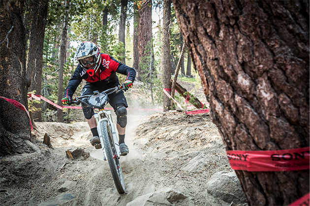 Ripping through Mammoth's renown kitty litter terrain. PHOTO: Called to Creation.