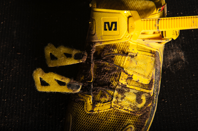 Tighten the shoe without actually feeling hotspots of the individual straps.