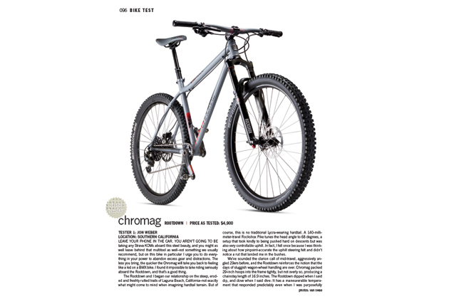 The less you bring, the more the Chromag Rootdown will bring you back to feeling like a kid on a BMX bike.
